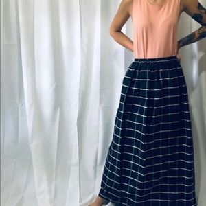 DAVID MEISTER Silk Taffeta Windowpane Skirt sz 12